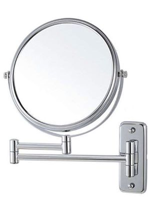 Lansi Makeup Mirror 10X Magnifying Wall Mount Double-Sided Vanity Decoration, Round, 8 Inch, Chrome Finished for Sale in Commerce, CA
