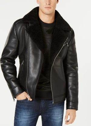 Faux-Leather Full-Zip Moto Jacket for Sale in Union City, NJ