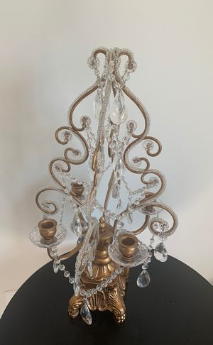 Gorg gold crystal candle holder for Sale in Fairfax Station, VA