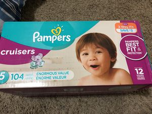 Diapers size 5 new. Pampers. 104 counts. for Sale in Millcreek, UT