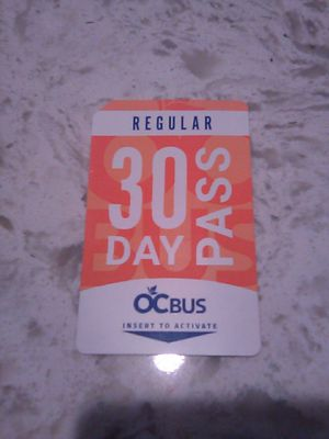 30 Day Regular Bus Pass for Sale in Anaheim, CA
