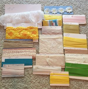 35 Yards Lace, Rick Rack, Trim, Edging and More for Sale in Carmichael, CA