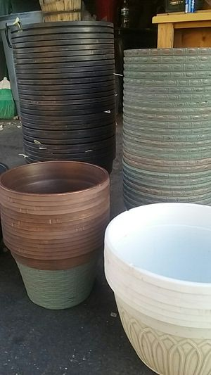 Flower pots 3 for 5 for Sale in Carson, CA