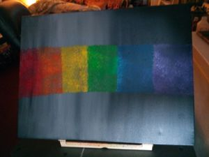 Large multi colored abstract art painting for Sale in Orlando, FL
