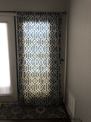 2 Blue curtains with rod for Sale in Tempe, AZ