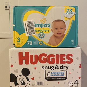 Baby Diapers/pampers Size 3 & 4 for Sale in Chicago, IL
