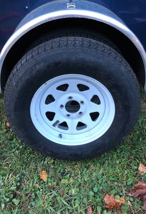Trailer rim and tire new. St 205/75/ 15 5 lug $25 for Sale in Edgewater, FL