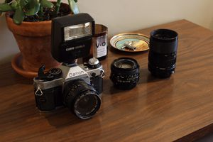Canon AE-1 Program w/extra lenses & flash for Sale in Knoxville, TN