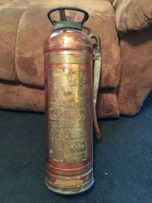 1920s copper brass fire extinguisher for Sale in Spartanburg, SC