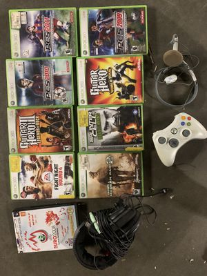 Xbox 360 games remote and headphones for Sale in Long Beach, CA