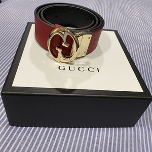 Gucci Women Reversible Belt | Black & Red | S/M for Sale in Rialto, CA