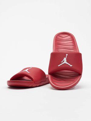 Red/white Jordan slides men's 9 for Sale in Maitland, FL