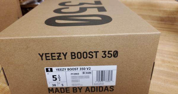 Yeezy boost 350 v2 sz 5.5 ( 7 womens) Cinder 5 1/2
