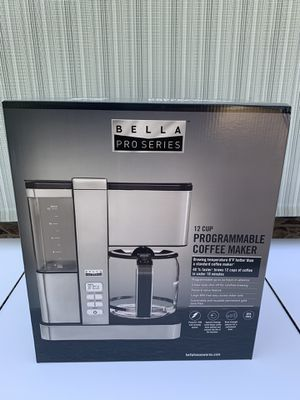 Bella - Pro Series Flavor Infusion 12-Cup Coffee Maker - Stainless Steel for Sale in Covina, CA