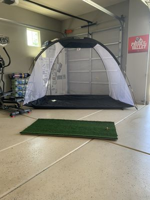 Golf practice net and grass mat for Sale in Clovis, CA