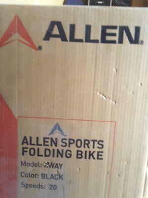 Allen Sports folding bike model xway for Sale in Phoenix, AZ
