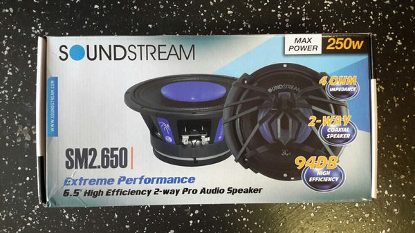 "Soundstream Extreme Performance 6.5"" High Efficiency 2-Way Pro Audio Speaker"