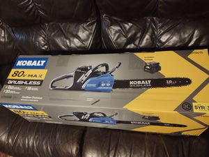 Kobalt chain saw new ((( no charger no battery))) firm price for Sale in Modesto, CA