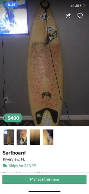 Surfboard for Sale in Riverview, FL