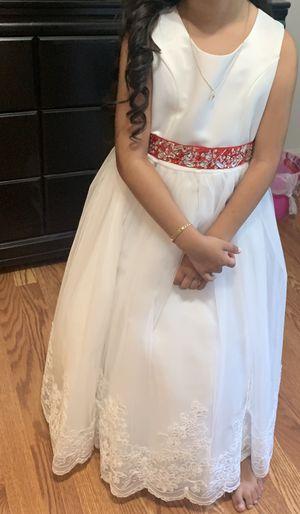 Flower girl dress size 8 for girl for Sale in Revere, MA