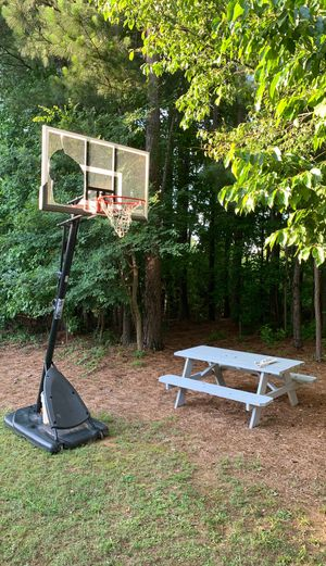 Picnic Table and basketball full size adjustable for Sale in Rock Hill, SC
