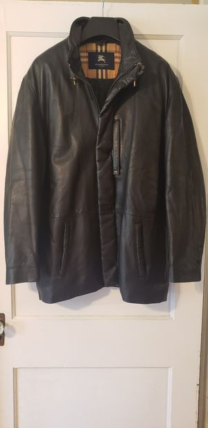 Men's Burberry leather Jacket for Sale in Greer, SC