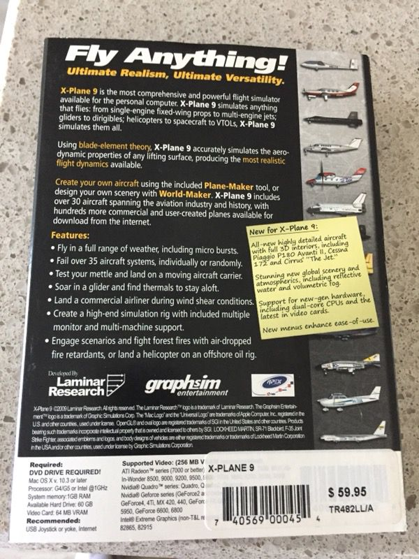 X-Plane 9 video game for Sale in Wesley Chapel, FL - OfferUp