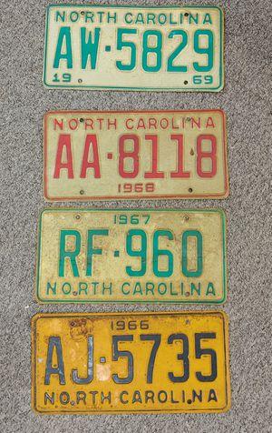 Antique 1966, 1967, 1968 & 1969 License Plates $20.00 Each for Sale in Burlington, NC