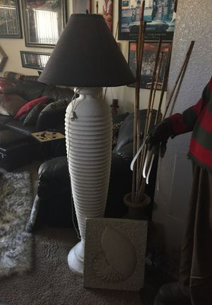 Floor lamp works and like new shell picture below free for Sale in Henderson, NV