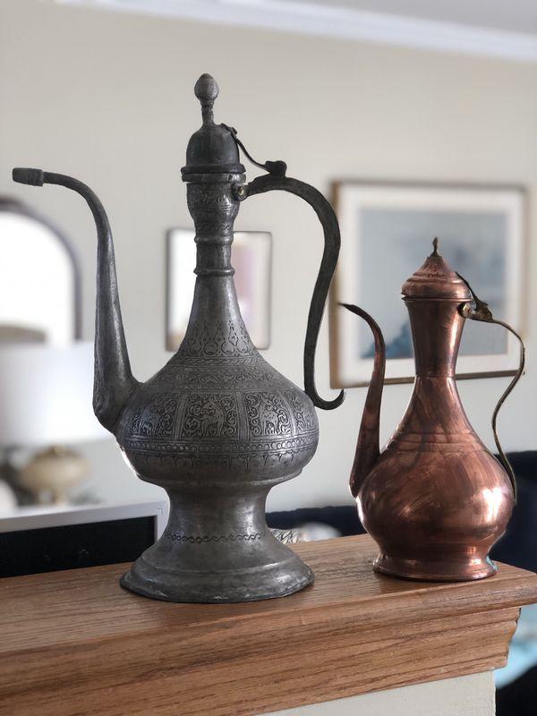 Antique Turkish Coffee Pots