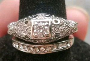 Rhodium Plated Vintage-Styled ArtDeco wedding set for Sale in Baltimore, MD