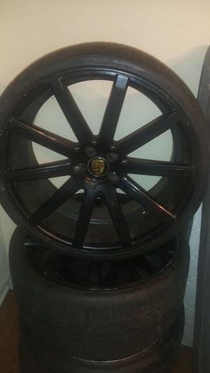 22 inch Porsche rims you with tires for Sale in Marietta, GA