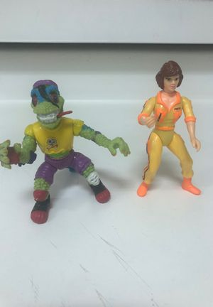 2 vintage ninja turtles figures - galleria for Sale in Houston, TX