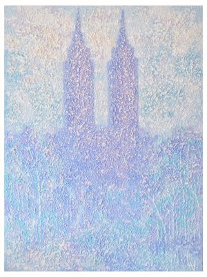 "Two Towers | Manhattan Painting Size: 48x36"" for Sale in Miami, FL"