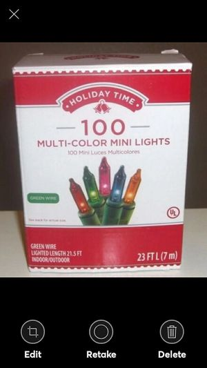 3 Boxes Holiday Time 100 Multi-Color Mini Lights-Christmas-NEW-Green for Sale in Lynchburg, VA