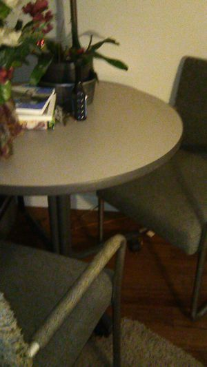 Small kitchen table for kitchen office or dorm room with two chairs for Sale in North Providence, RI