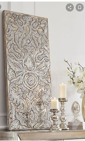 Mirrored Damask Mosaic Wall Panel/ Wall Art Decor for Sale in Round Rock, TX