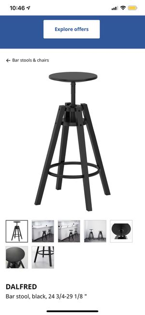 IKEA black bar stools (4) for Sale in Denver, CO