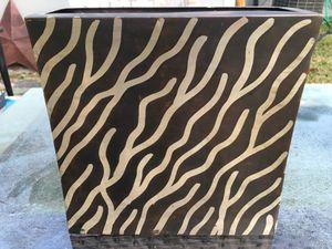 Metal Zebra Striped Vase for Sale in Deer Park, TX