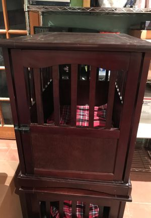 Two Wooden Dog End Table Crates for Sale in Wrentham, MA