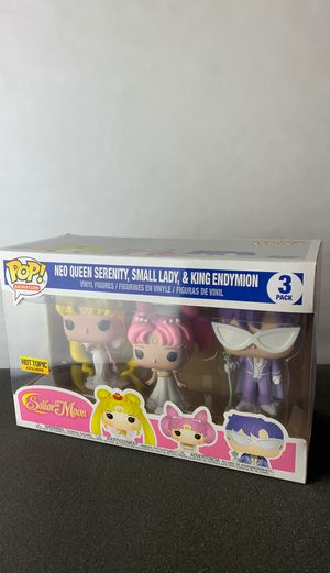 Sailor Moon - 3 Pack Neo Queen Serenity Small Lady King Endymion for Sale in San Gabriel, CA