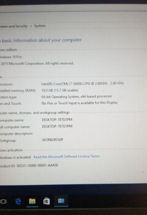 Lenovo X250, i7-5600u, 16gb, 256GB SSD