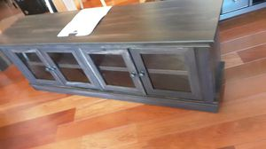 TV Cabinet for Most Flat-Panel TVs Up to 75-Brown..assembled.RETAILS FOR 249.95 PLUS TAX.,,65X16X22..COLOR IS TWO BROWN..price is firm for Sale in West Chicago, IL