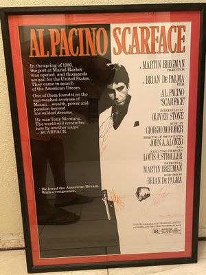 Authentic signed Scarface poster for Sale in Auburndale, FL