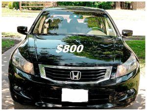 $8OO🔥 Very nice 🔥 2OO9 Honda accord sedan Run and drive very smooth clean title!!!! for Sale in Arlington, VA