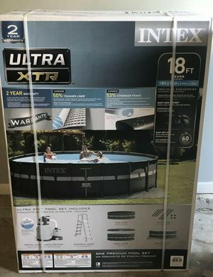 Intex Ultra XTR 18 x 52 Pool Set with Sand Pump for Sale in Arlington, TX
