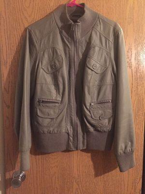 Grey leather jacket for Sale in Detroit, MI