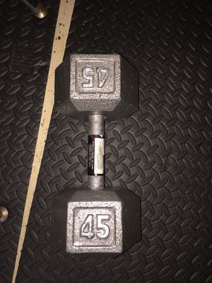 Brand new cast iron 45 pound dumbbell for Sale in Orlando, FL