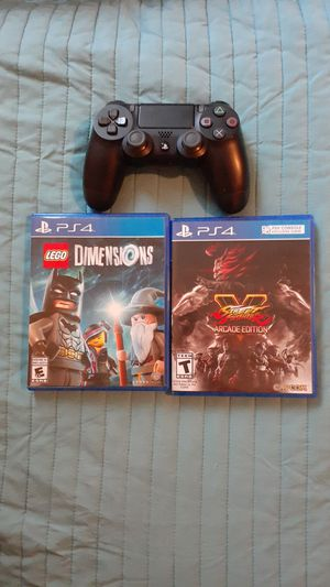 PS4 Controller And Games : Lego Dimensions & Street Fighter Arcade Edition for Sale in Riverview, FL