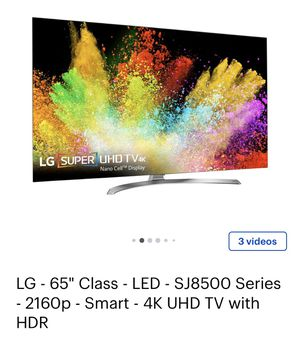 """LG- 65"""" inch TV 4k UHD with HDR -SJ8500 for Sale in Happy Valley, OR"""
